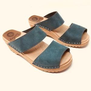 Troentorp clog sandals Size 38 Slides leather wood
